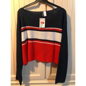 Cropped H & M sweater.